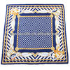 2012 fashion navy print silk twill scarf wholesale