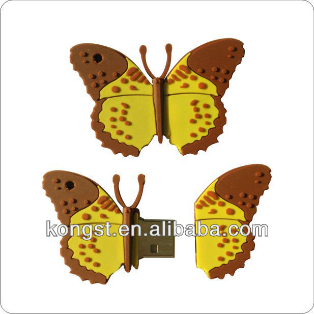 Novelty butterfly usb memory stick1gb,2gb, 4gb, 8gb,16gb