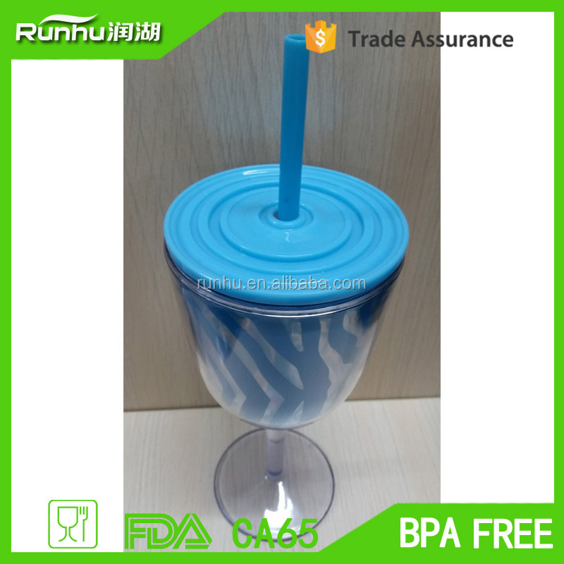 High Quality Plastic Unbreakable Beer Wine Tumbler Adult Sippy Cup RH119-12