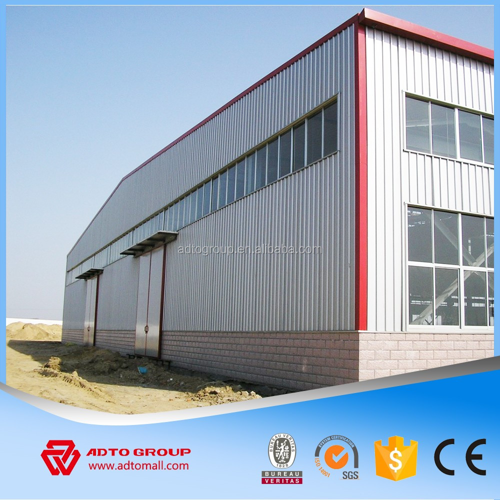 low cost factory workshop steel building two story building india