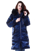 Fashion Hot Sales Women Winter Wholesale Down Filling Ladies Bright Color Long Down Zipper Jacket With Fur Hooded