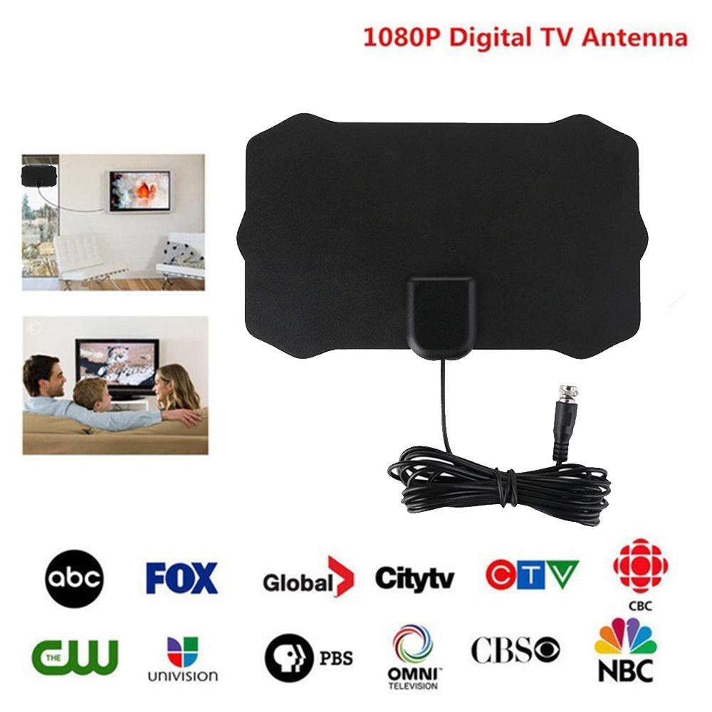 Updated 2018 Version TV Antenna,tv Antenna 2018 Indoor Digital HDTV Antenna 4K TV Antenna Amplified 50 Mile for Local Channels Broadcast for All Types of Home Smart Television