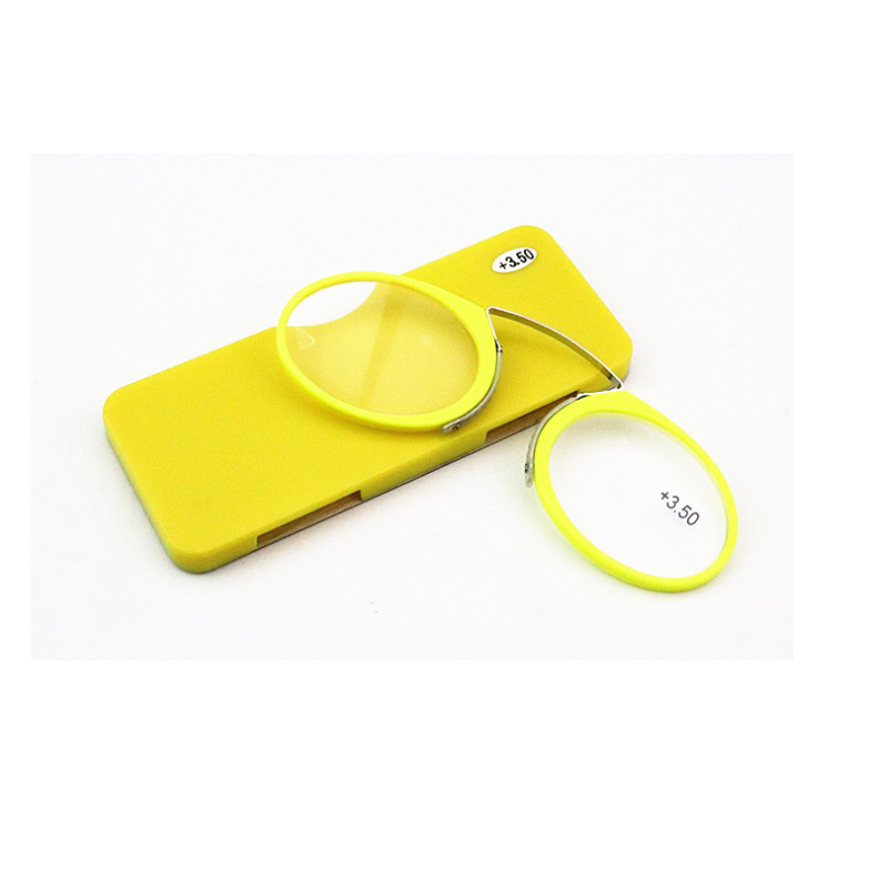 Бесплатная доставка TR90 карта ультра легкий портативный нос луч очки для чтения бумажник телефон SOS папка носоупоры очки для чтения(Китай)