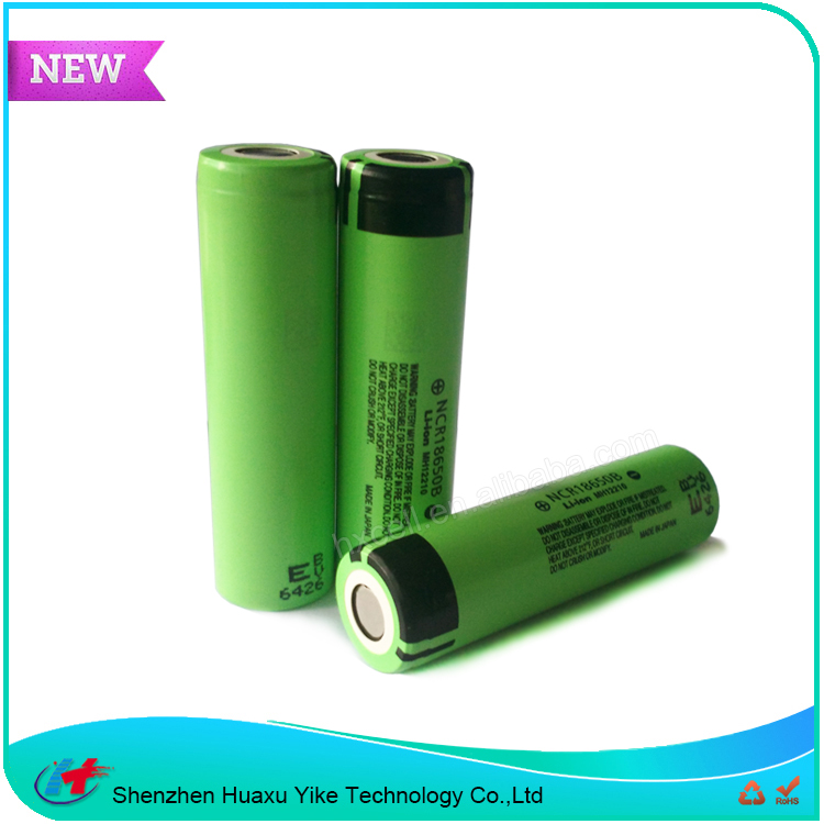 High Capacity Li-Ion Rechargeable Battery 18650 3.7v 3400mah Batery ncr18650b
