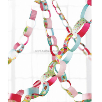 Diy Paper Chain Kit Decor Assorted Colours Baby Shower Birthday