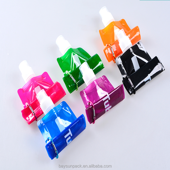 Newest 480ml Reusable Foldable Sport&Outdoor Water Drinking Plastic Bag Portable Folding Water Bottle