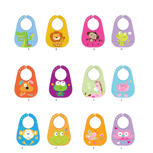 High quality Colorful design waterproof silicone baby bibs wholesale