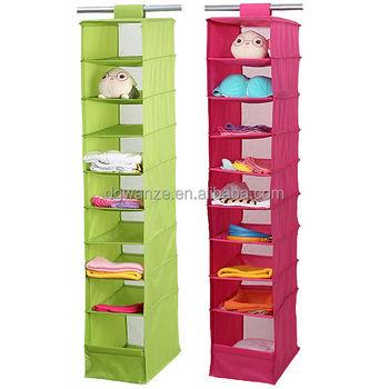 9 shelves hanging closet storage bag buy 9 shelves - How to hang bags in closet ...