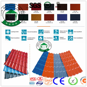 Asa synthetic resin tile types of roof covering sheets plastic resin roof tile