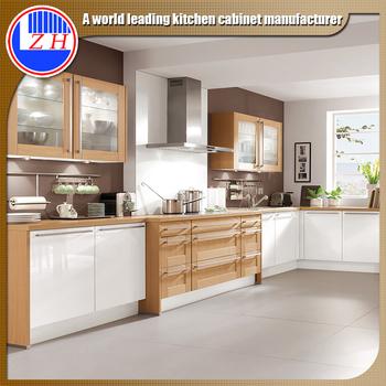 High Gloss Fiber Cupboard Kitchen Wall Hanging Cabinet Aluminium