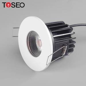 Black white satin nickel chrome housing fire rated 10W COB bathroom ip65 led downlight
