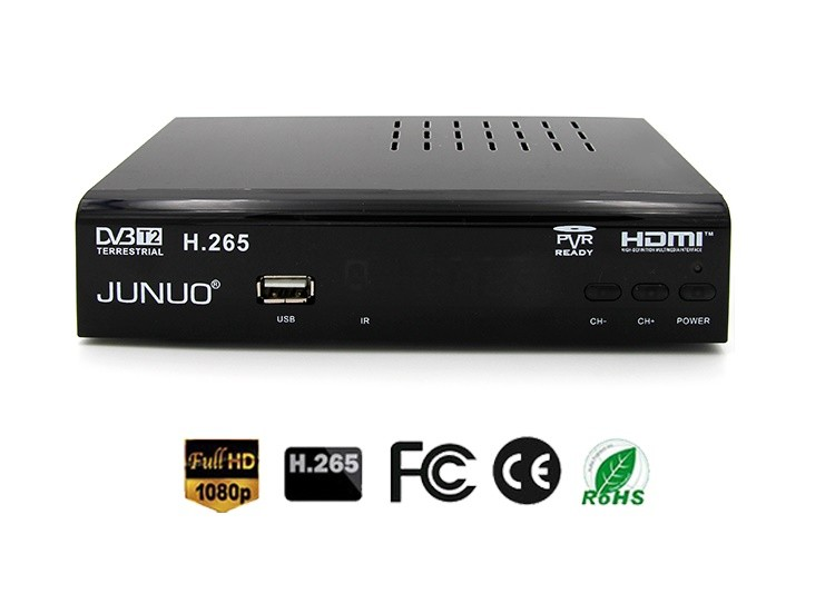 JUNUO manufacture OEM good quality strong decoder tv tuner full hd mstar 7t01 Nigeria dvb-t2 digital tv receiver