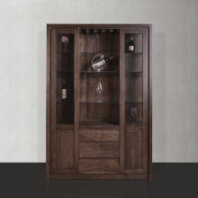 Living room furniture Nordic simple style solid wood Wine Cabinet