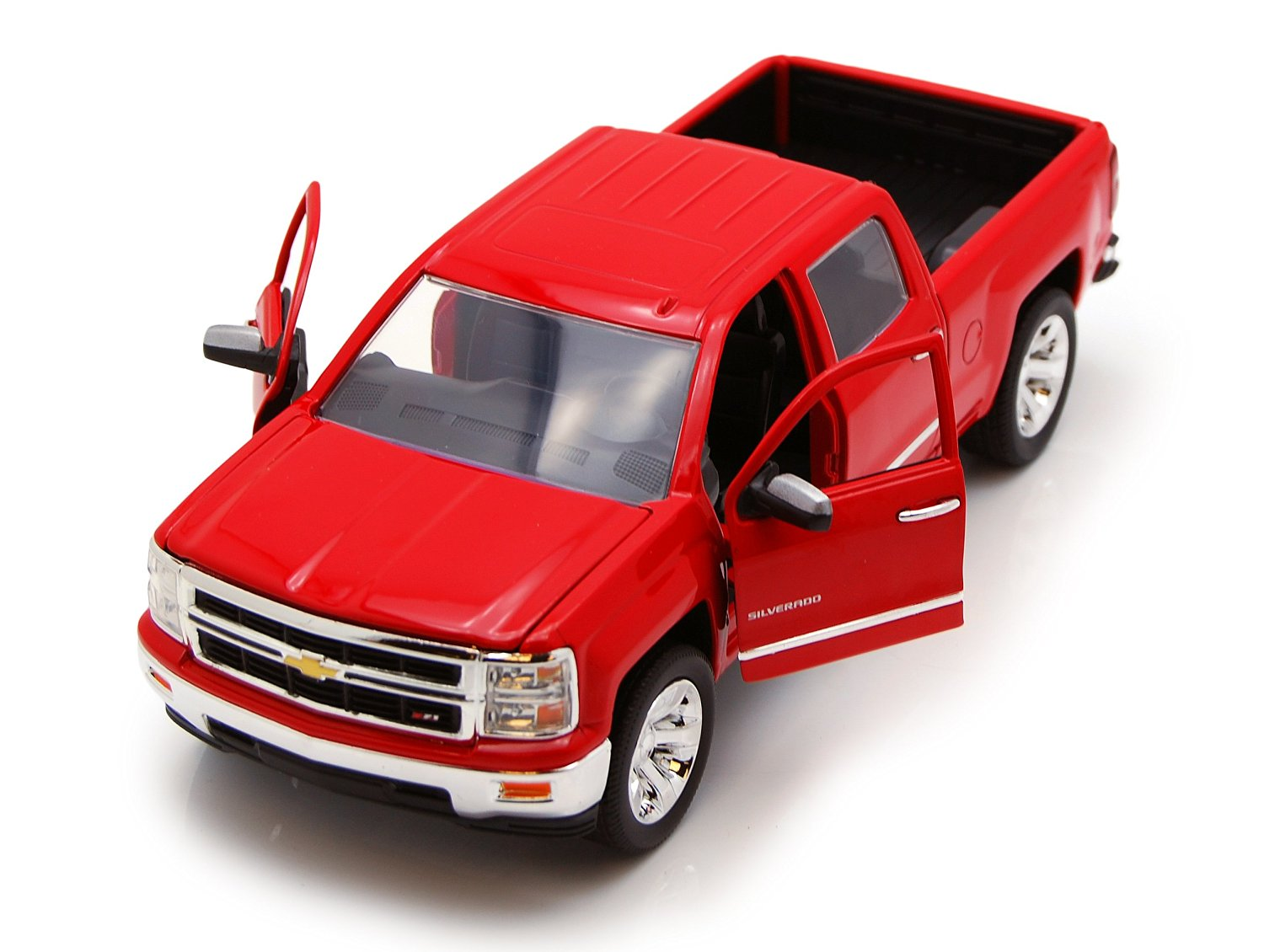 Chevy Silverado Pickup Truck, Red - Jada Toys Just Trucks 97018 - 1/24 scale Diecast Model Toy Car