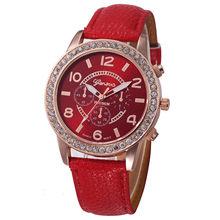 Reloj Mujer 2020 Geneva Модные Женские Аналоговые кварцевые наручные часы со стразами и кожаным ремешком, женские часы от ведущего бренда, роскошные ч...(Китай)