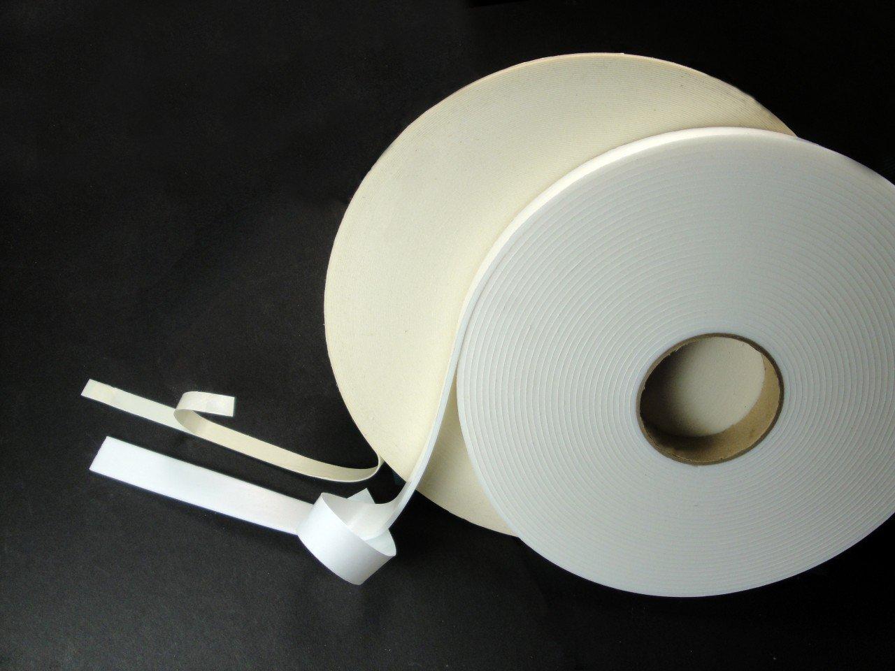 """Double Coated Polyethylene Foam Tape 1/16 in Acrylic (15060) (Size:1.5"""" (36mm)x 36Yd-8 Rolls Per Case, White Foam)"""