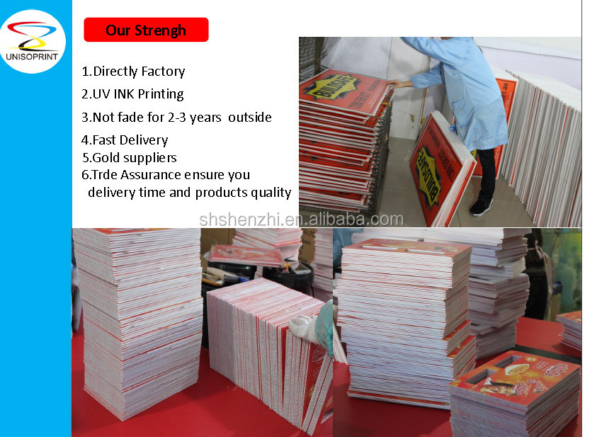 2015 new design wholesale triangle corflute signs printing for Triangle wholesale printing