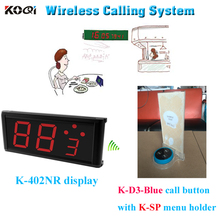 New Arrival High Quality Strong Signal Led Display Monitor Set For Restaurant Hotel Wireless Service Waiter Call Bell System