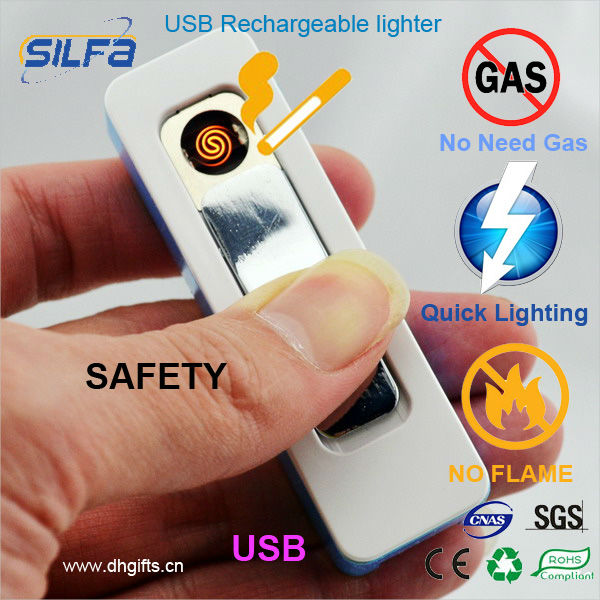 USB charged electric lighter silfa kitchen promotional items