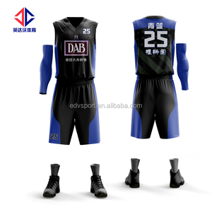 Latest design 100% polyester basketball uniform