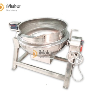 Factory price 50l sugar cooking machine 500 liter steam jacketed cooking kettle 50 liter stainless steel sugar mixer cooking pot