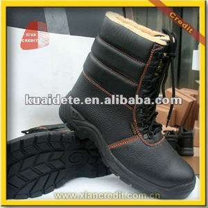 slip& oil resistant leather used work boots