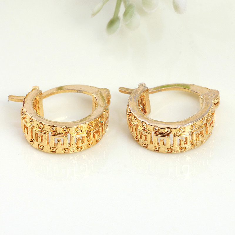 Get Quotations Promotion Fashion Wholes Earrings Jewelry Newest Brand 24k Gold