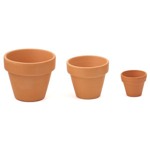 Flower Pots Terracotta: Garden Decorative Flower Pot Mini Terracotta Pot
