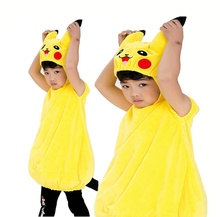 Cartoon rollenspel kids leuke cosplay kinderen <span class=keywords><strong>pikachu</strong></span> pluche stage <span class=keywords><strong>kostuum</strong></span>