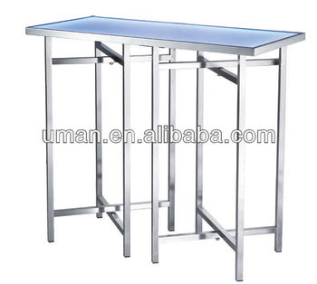 Stainless Steel Buffet Table With LED Light