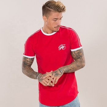 2019 new fashion summer plain red round neck custom brand OEM services mens t shirt