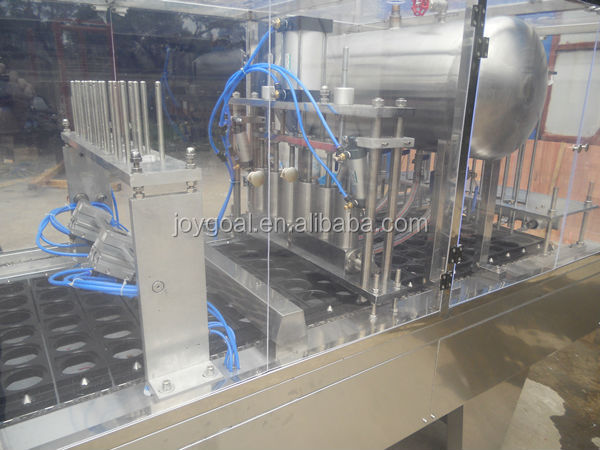 Automatic food tray wrap lidding sealing machine for fast food container automatic plastic cup lidding  machine