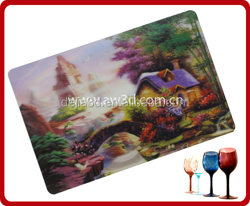 New arrival kids plastic placemats, make plastic placemats, 3d lenticular plastic placemats