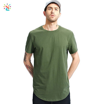 d8036a36d Custom cotton blank t shirt mens curved hem hipster t shirts army green and  camo design