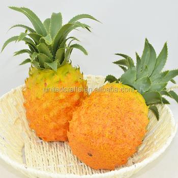 Artificielle Mini Ananas-en Plastique Décoratif Fruits Jaune Ananas on