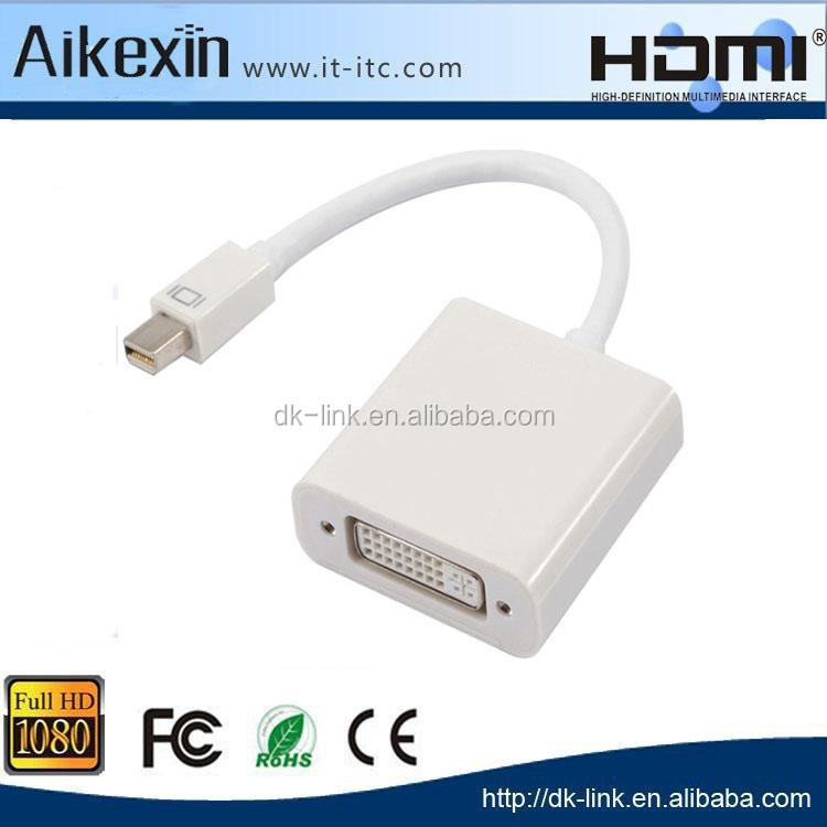 Mini DP to DVI Converter Adapter Cable for Macbook Pro Air CRT LCD Monitors