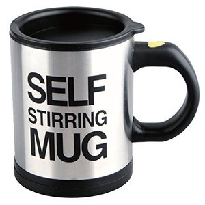 Novelty gift Automatic mixing mugs 304 stainless steel stirring mugs