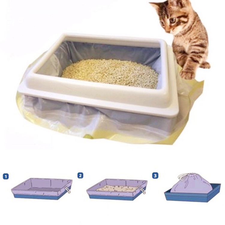 Hot sale scented cat litter liner drawstring waste bag