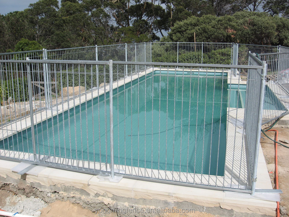 Retractable pool fence portable glass