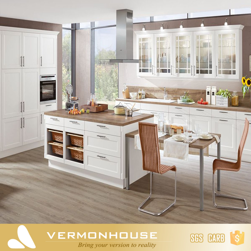 2018 Vermonhouse Customized Classical Shaker Door Style Design Ideas Wood Kitchen Designs Gallery Buy Kitchen Cabinets Used Kitchen Cabinets