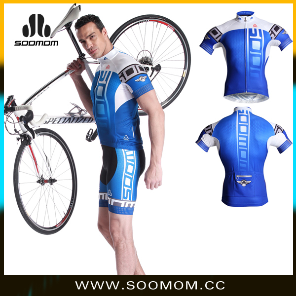 soomom blue cheap men cycling short jersey