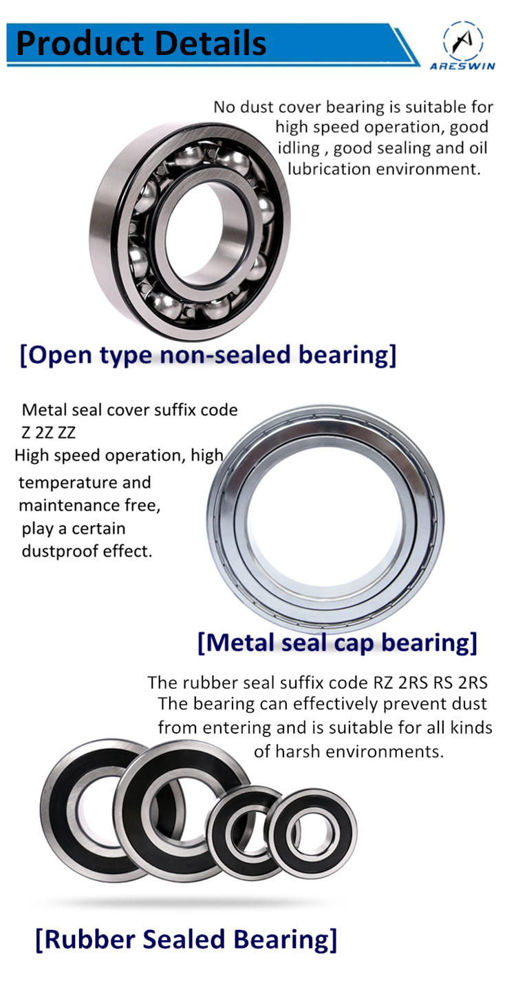 Factory supply 6302 2RS  bearing deep groove ball bearing 6302ZZ high speed low noise motor motorcycle bearing 6302