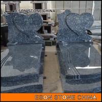 eson stone 64 blue pearl granite heart headstone for sale