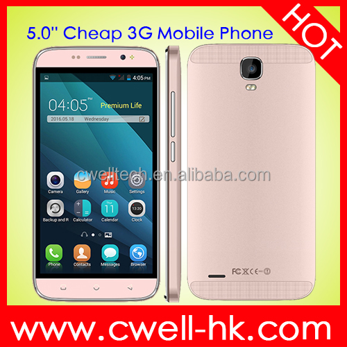 "Cheapest 5.0"" Smart Phone Android 4.4 Korean Mobile Phone Rose Pink Color"