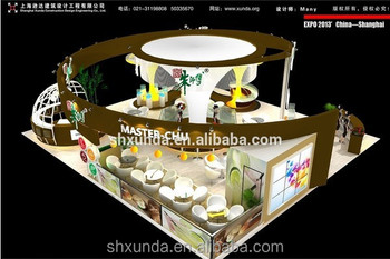 Trade Show Booths With Large Beautiful Lamping