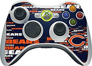 NFL Chicago Bears Xbox 360 Wireless Controller Skin - Chicago Bears Blast Vinyl Decal Skin For Your Xbox 360 Wireless Controller