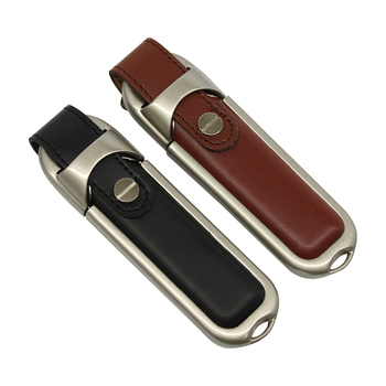Leather USB stick 4GB 8GB 16GB 32GB 64GB Pen Drive Gift USB Flash Disk