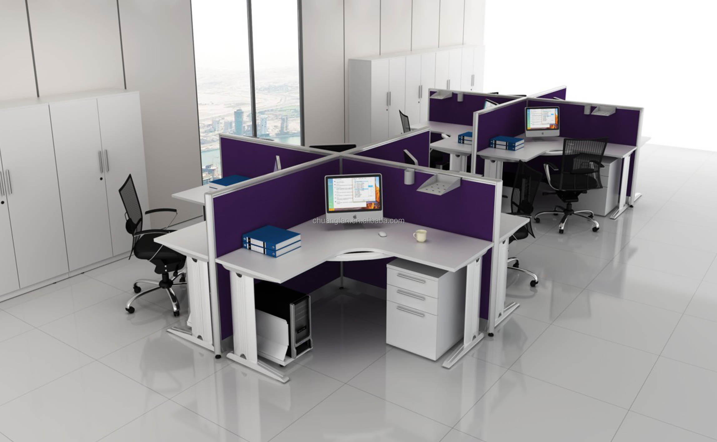 Cd60 001 Save Space Workstation With Small Meeting Table Buy
