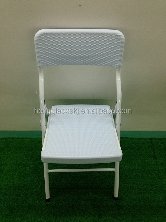 White Rattan Chair For Wedding, Outdoor Lightweight Cheap Folding Rattan  Chairs, Nice Look Plastic