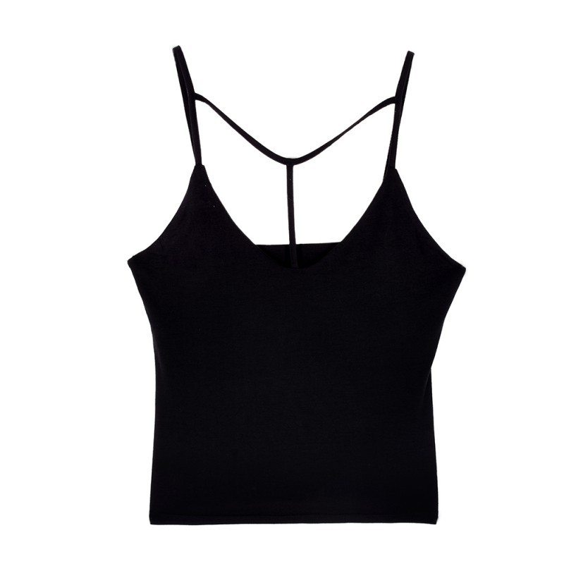Bonvatt Women Clothes Tops Sexy Bandage Backless Cami Tops Sexy Tight-fitting V-neck Sleeveless Tanks Crop Top New Arrival